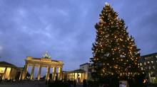 Berlin's Brandenburg Gate 29 decked out for the festive season. (JOHN MACDOUGALL/AFP/Getty Images)