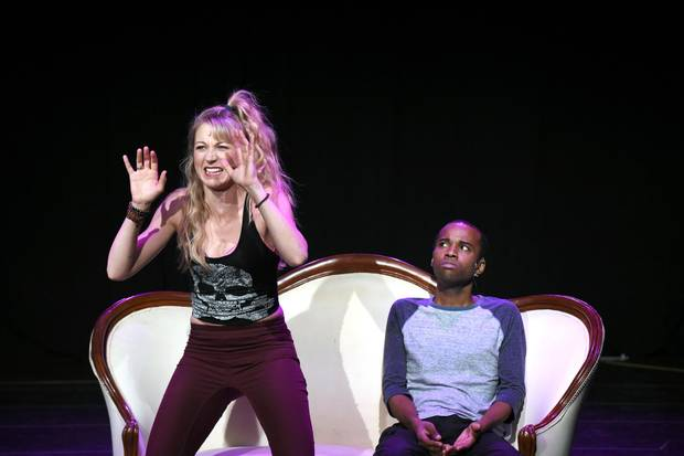 Sara Jean Ford and Jordan Barrow perform during a media preview of Garth Drabinsky's Madame Sousatzka at the Elgin Wintergarden Theatre in Toronto.