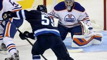 The Oilers are hoping Richard Bachman's 32 games of NHL experience are enough to solve their goaltending problems. (TREVOR HAGAN/THE CANADIAN PRESS)
