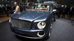 The Bentley EXP 9 F concept car.