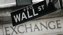 Wall Street sign (Mark Lennihan)