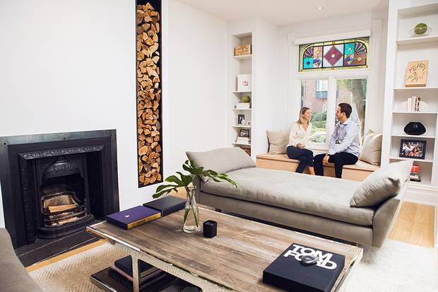 Joanna Bryden and Jon Pezimy are seen in their favourite room, the living room in their Toronto home on August 30, 2017.