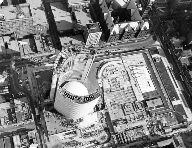 City Hall under construction, Dec. 1, 1964.
