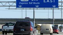 Vehicles travelling eastbound on the 407 Express Toll Route north of Toronto (Louie Palu/The Globe and Mail)