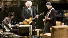 "The movie, ""It Might Get Loud,"" features (L) Jack White, Jimmy Page and The Edge."