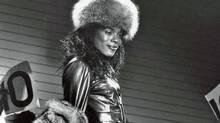 Tina Montana au bal Aris Pendavis, 1990 (Chantal Regnault/Soul Jazz Books) Voguing and the House Ballroom Scene of New York City ('Photograph copyright Chantal Regnault. Courtesy of Soul Jazz Books)