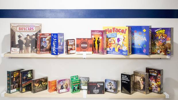 A sample of the games on offer at Boxcar, one of Calgary's board game cafes.