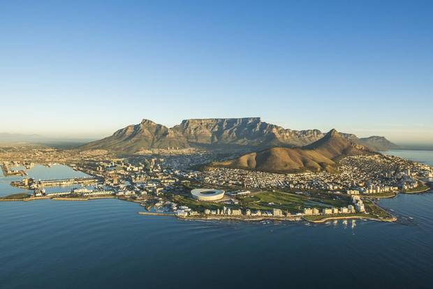 An aerial image of Cape Town, South Africa.