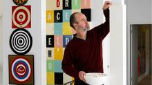 Writer Douglas Coupland's home in Vancouver, British Columbia, is filled with art, much of it of his own. (Martin Tessler)