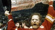 Calgary Flames' Lanny McDonald raises the Stanley Cup in Montreal Thursday, May 25, 1989 after Flames defeated Canadians. May used to be the month when NHL playoff hockey grabbed the attention of Canadians. The lockout ruined that experience this year, but vivid memories remain from Stanley Cup play in the 1970s, 1980s and 1990s. (CP PICTURE ARCHIVE - Bill Grimshaw) (BILL GRIMSHAW)