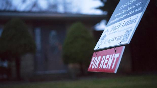 A vacant house in Oakville, sits with a for rent sign on the lawn, one of many such homes in southeast Oakville.