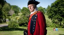 Globe writer Ian Brown dresses up in 18th-century British regalia on the Plains of Abraham in Quebec: 'It felt surprisingly grave.' (Francis Vachon/Francis Vachon - info@francisvachon.com)