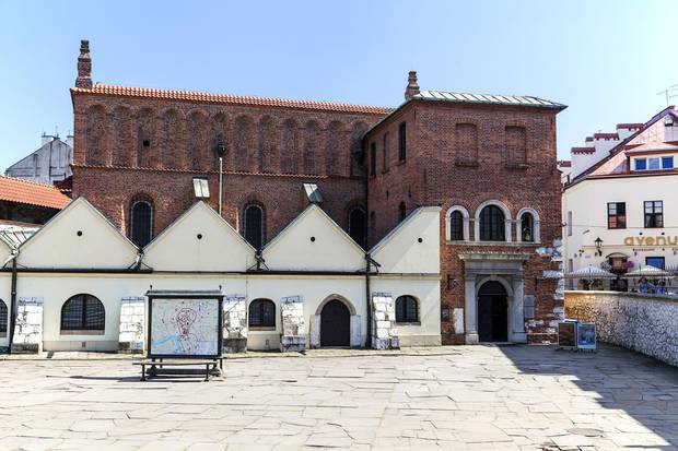 An old synagogue in the Jewish district of Krakow.