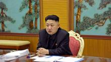North Korean leader Kim Jong-un is seen in an undated file photo released by the Korean Central News Agency Jan. 27, 2013. (Korean Central News Agency/AP)