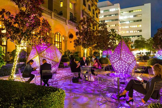 Sculptures light up the street at BOLD – Beverly Hills Open Later Days.