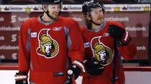 Ottawa Senators Jason Spezza, left, and Daniel Alfredsson (PATRICK DOYLE/The Canadian Press)