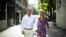 Lululemon founder Chip Wilson and his wife Shannon are photographed in Gastown's Blood Alley in Vancouver, British Columbia, Wednesday, August 1, 2012. (Rafal Gerszak For The Globe and Mail)