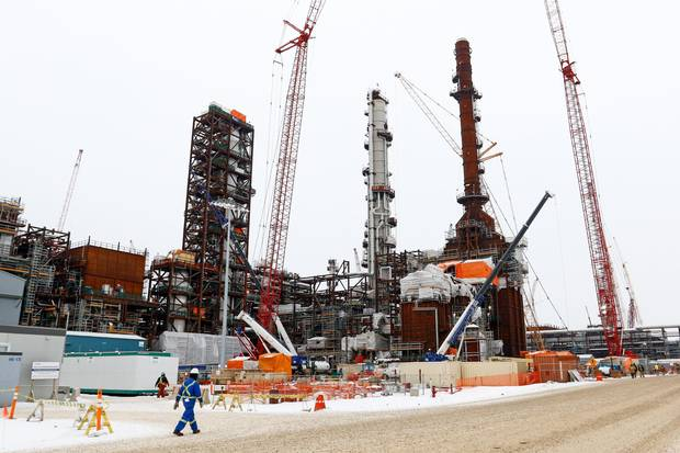 The Sturgeon Refinery Project in Edmonton, Alberta on Thursday, February 9, 2016.