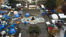 The Occupy Vancouver site at the Vancouver Art Gallery November 11, 2011. (John Lehmann/The Globe and Mail/John Lehmann/The Globe and Mail)