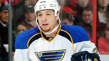 New St. Louis Blues acquisition Chris Stewart has scored nine goals in his first 11 games with his new club. (Photo by Greg Fiume/Getty Images) (Greg Fiume/2011 Getty Images)