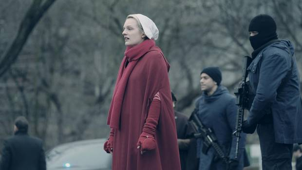 Elisabeth Moss in an episode of The Handmaid's Tale.
