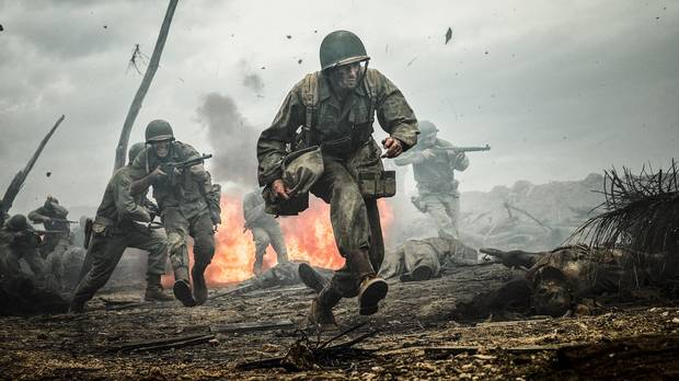 This image released by Summit shows Andrew Garfield in a scene from Hacksaw Ridge.