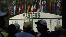 Masters scoreboard (Charlie Riedel)