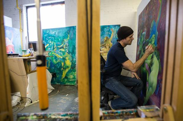 Mark Liam Smith, an artist with the Akin collective, says he can only afford his studio space because it's walking distance from his home and public transit costs are too high.