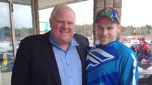 Rob Ford with Bracebridge resident Brody Lisle (MuskokaRegion.com)
