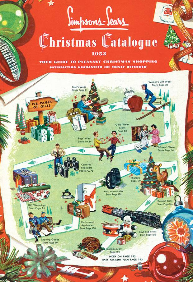 The first Sears Christmas catalogue, from 1953.