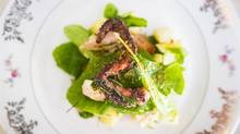 Cinara's octopus salad, photographed on Wednesday, is a deceptively simple dish that actually takes hours to achieve the perfect texture. (John Lehmann/The Globe and Mail)