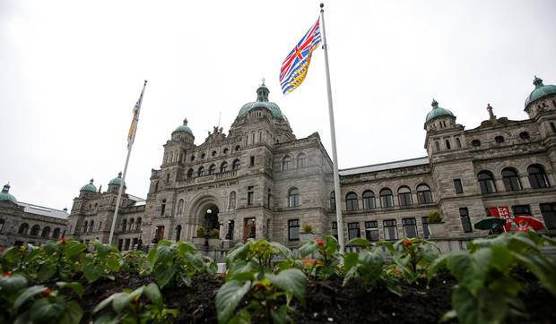The British Columbia Parliament Buildings in Victoria, B.C.