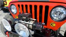 Electric winch is a common addition to Jeep Wranglers used for offroading. The winch lets you pull your vehicle out if you get stuck. (Peter Cheney/Peter Cheney/The Globe and Mail)