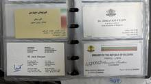 The business card of former CSIS intelligence director Jack Hooper was among a trove of documents recovered by Libyan rebels last year in Tripoli.