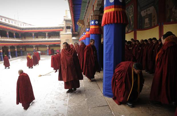Tibetan Buddhist monks and nuns are known to practice tummo meditation, which is believed to create