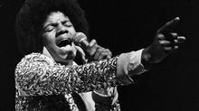 Pop star Michael Jackson performs as lead singer of the Jackson Five in a file photo during a performance at the Mill Run Playhouse in a June 1974 file photo. (STR/Allen Fredrickson/Reuters)