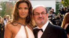 Salman Rushdie with one of his four ex-wives, Indian supermodel Padma Lakshmi: the poster boy for intellectual males who are irresistible to women. (PHIL McCARTEN/PHIL McCARTEN/REUTERS)