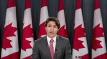 Liberal leader Justin Trudeau speaks about his private members bill during a news conference Wednesday June 11, 2014 in Ottawa. (Adrian Wyld/THE CANADIAN PRESS)