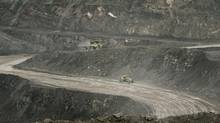 The open pit Kemess South Mine was in production from 1988 to 2011. (JOHN LEHMANN/The Globe and Mail)