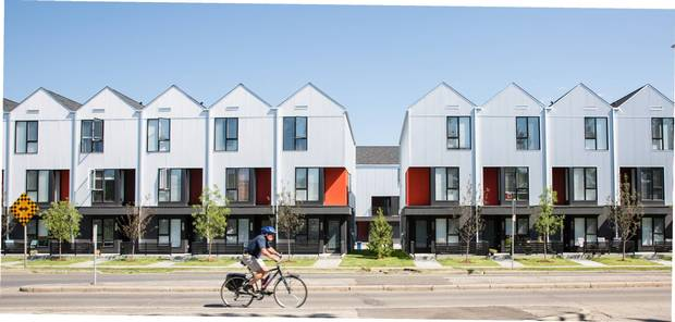 Arrive at Bowness, a development in Calgary, consists of 50 townhouses, of 39 were sold below market rate.