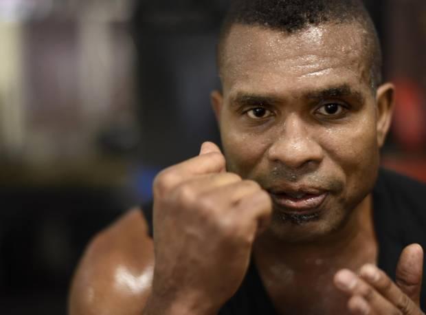 Former boxing champion Razor Ruddock weaves his way back
