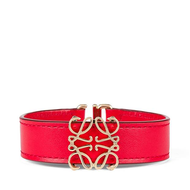 A bracelet by Spanish luxury label Loewe brandishes a visible monogram in the hope it will lend the piece new cachet.