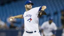 Brandon Morrow pitches against the Houston Astros during the first inning in Toronto on Wednesday. (Chris Young/THE CANADIAN PRESS)