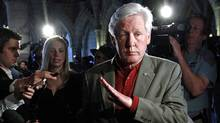 Liberal MP Bob Rae arrives for a post-election caucus meeting in Ottawa on May 11, 2011. (CHRIS WATTIE/REUTERS)