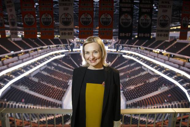 Rogers Place vice president and general manager Susan Darrington poses for a photo in Edmonton, Alta., on Tuesday, Oct. 4, 2016.