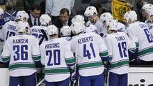 Vancouver Canucks bench (Peter Power/Peter Power/ The Globe and Mail)