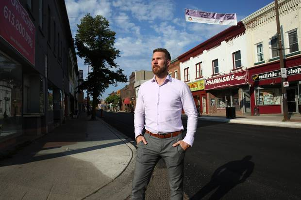 Conrad Pool, owner of Ottawa-based Sleepwell Property Management, in downtown Pembroke.