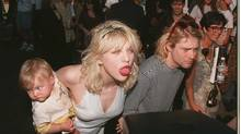 Frances Bean Cobain, Courtney Love and Kurt Cobain in 1993 (PAUL HARRIS/ONLINE USA INC)
