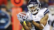 Toronto Argonauts Marcus Ball intercepts a pass against the Montreal Alouettes in the second half during the CFL's Eastern Conference Final game in Montreal, November 18, 2012. (MATHIEU BELANGER/REUTERS)