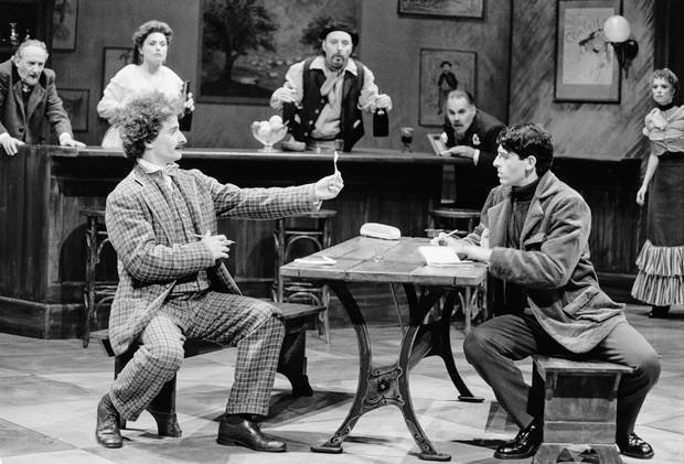 Cast members of Picasso at the Lapin Agile, directed by Steven Schipper, are pictured in 1996.